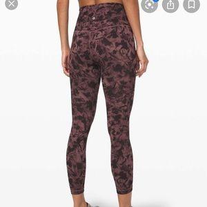 """Lululemon align pants 25"""" mini dusk floral"""